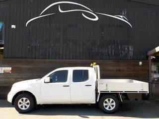 2013 Nissan Navara D40 S8 RX 4x2 White 5 Speed Automatic Utility