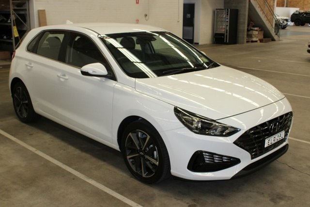 Demo Hyundai i30 PD.V4 MY21 Active Cardiff, 2020 Hyundai i30 PD.V4 MY21 Active Polar White 6 Speed Sports Automatic Hatchback
