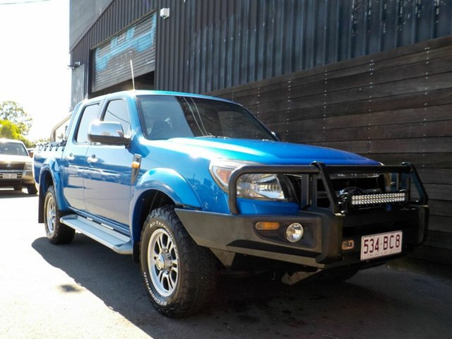 Used Ford Ranger PK XL Crew Cab Labrador, 2011 Ford Ranger PK XL Crew Cab Blue 5 Speed Automatic Utility