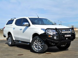 2015 Mitsubishi Triton MQ MY16 GLS Double Cab White 6 Speed Manual Utility.