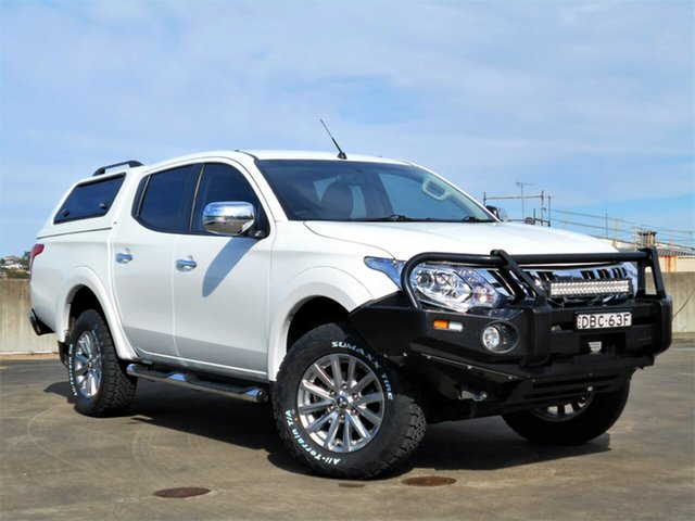 Used Mitsubishi Triton MQ MY16 GLS Double Cab Brookvale, 2015 Mitsubishi Triton MQ MY16 GLS Double Cab White 6 Speed Manual Utility