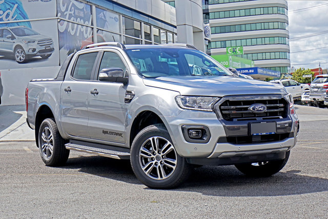Used Ford Ranger PX MkIII 2020.75MY Wildtrak Springwood, 2020 Ford Ranger PX MkIII 2020.75MY Wildtrak Silver 6 Speed Sports Automatic Double Cab Pick Up