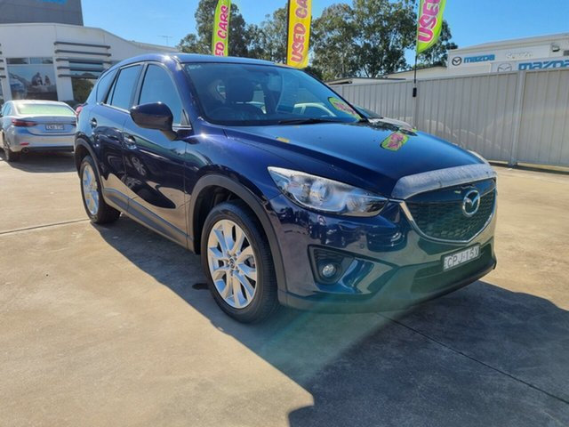 Used Mazda CX-5 KE1031 MY13 Grand Touring SKYACTIV-Drive AWD Glendale, 2013 Mazda CX-5 KE1031 MY13 Grand Touring SKYACTIV-Drive AWD Blue 6 Speed Sports Automatic Wagon