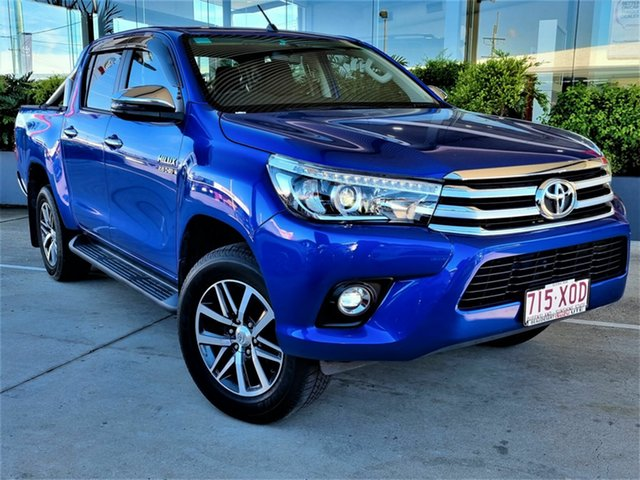 Used Toyota Hilux Beaudesert, 2017 Toyota Hilux Blue 6 Speed Automatic Dual Cab