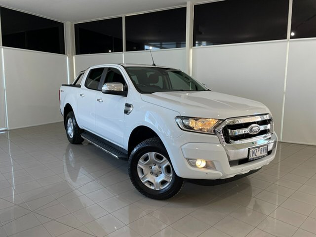 Used Ford Ranger PX MkII 2018.00MY XLT Double Cab 4x2 Hi-Rider Deer Park, 2018 Ford Ranger PX MkII 2018.00MY XLT Double Cab 4x2 Hi-Rider White 6 Speed Sports Automatic