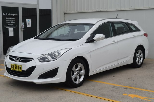 Used Hyundai i40 VF2 Active Tourer Rutherford, 2013 Hyundai i40 VF2 Active Tourer White 6 Speed Sports Automatic Wagon