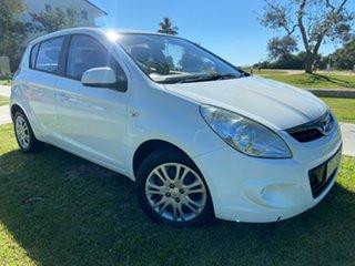 2010 Hyundai i20 PB MY11 Active White 4 Speed Automatic Hatchback.
