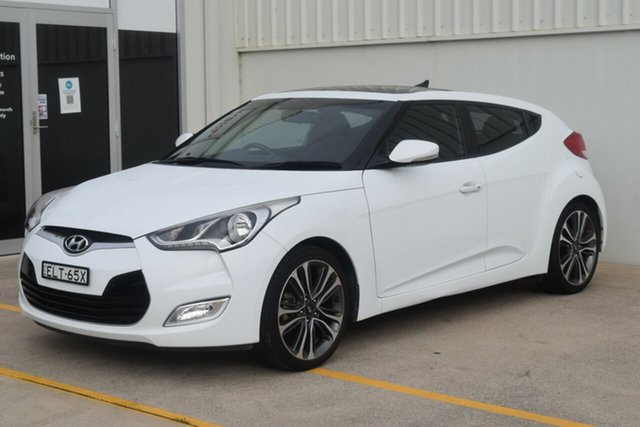 Used Hyundai Veloster FS5 Series II Coupe Rutherford, 2017 Hyundai Veloster FS5 Series II Coupe White 6 Speed Manual Hatchback