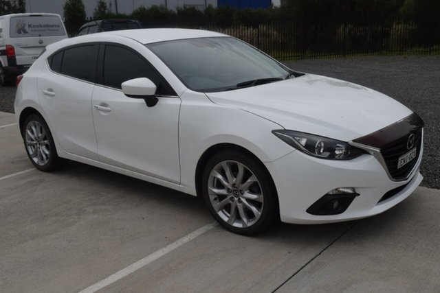 Used Mazda 3 BM5438 SP25 SKYACTIV-Drive Rutherford, 2015 Mazda 3 BM5438 SP25 SKYACTIV-Drive White 6 Speed Sports Automatic Hatchback
