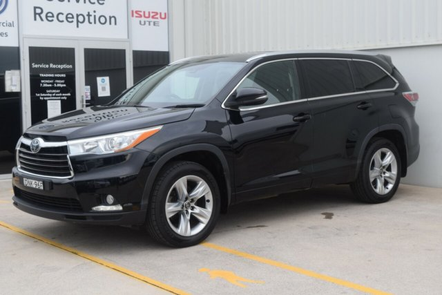 Used Toyota Kluger GSU55R Grande AWD Rutherford, 2016 Toyota Kluger GSU55R Grande AWD Black 6 Speed Sports Automatic Wagon