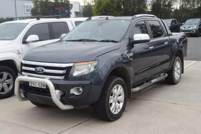 Used Ford Ranger PX Wildtrak Double Cab Rutherford, 2012 Ford Ranger PX Wildtrak Double Cab Grey 6 Speed Sports Automatic Utility