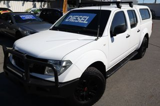 2011 Nissan Navara D40 MY11 RX White 6 Speed Manual Utility.