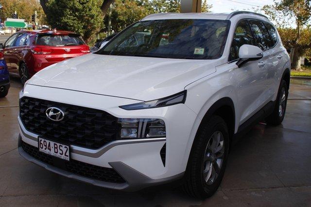 Demo Hyundai Santa Fe TM.2 MY20 Active Toowoomba, 2020 Hyundai Santa Fe TM.2 MY20 Active White Cream 8 Speed Sports Automatic Wagon