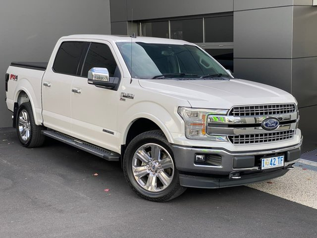 Used Ford F150 Hobart, 2019 Ford F150 (No Series) Lariat White 10 Speed Automatic Utility