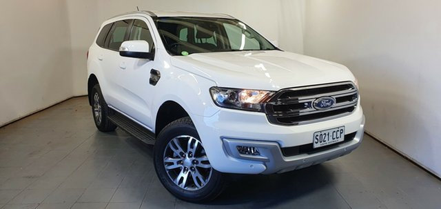 Used Ford Everest UA 2018.00MY Trend Elizabeth, 2017 Ford Everest UA 2018.00MY Trend White 6 Speed Sports Automatic SUV