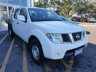2013 Nissan Navara D40 S7 MY12 RX 4x2 White 6 Speed Manual Utility.