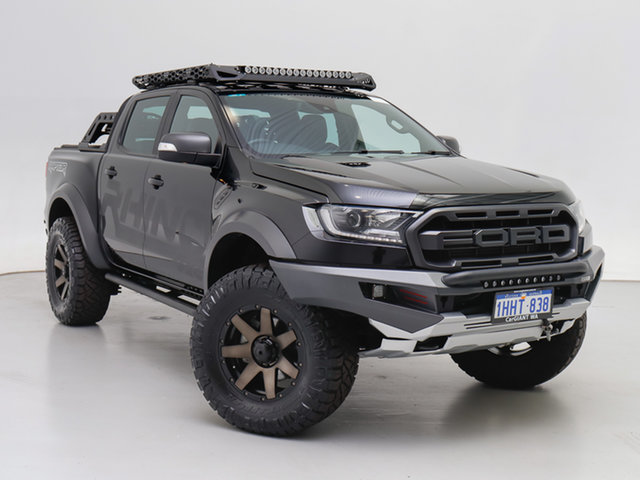 Used Ford Ranger PX MkIII MY19 Raptor 2.0 (4x4), 2018 Ford Ranger PX MkIII MY19 Raptor 2.0 (4x4) Black 10 Speed Automatic Double Cab Pick Up