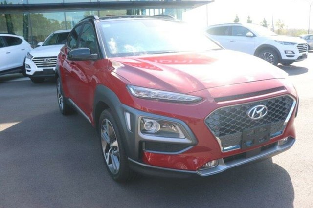 New Hyundai Kona OS.3 MY20 Highlander 2WD Augustine Heights, 2020 Hyundai Kona OS.3 MY20 Highlander 2WD Pulse Red Black Roof 6 Speed Sports Automatic Wagon