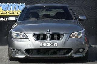 2007 BMW 5 Series E60 530i Steptronic Grey 6 Speed Sports Automatic Sedan.