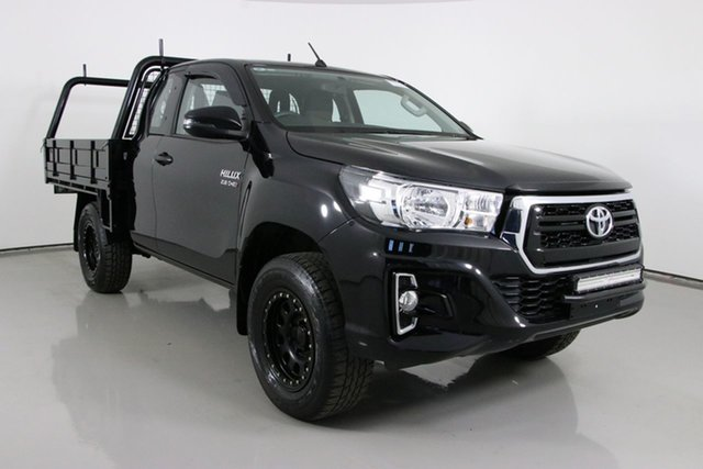 Used Toyota Hilux GUN126R MY19 SR (4x4) Bentley, 2019 Toyota Hilux GUN126R MY19 SR (4x4) Black 6 Speed Manual X Cab Cab Chassis