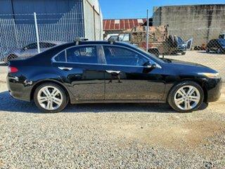 2009 Honda Accord Euro CU Luxury Black 5 Speed Automatic Sedan.