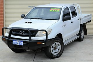 2011 Toyota Hilux KUN26R MY10 SR White 5 Speed Manual Cab Chassis.