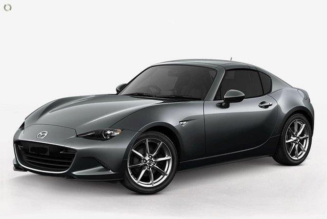 New Mazda MX-5 ND GT RF SKYACTIV-MT Waitara, 2021 Mazda MX-5 ND GT RF SKYACTIV-MT Grey 6 Speed Manual Targa