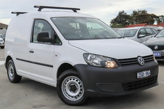 2012 Volkswagen Caddy 2KN MY12 TDI250 SWB DSG White 7 Speed Sports Automatic Dual Clutch Van