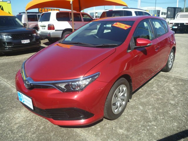 Used Toyota Corolla ZRE182R Ascent S-CVT Morayfield, 2015 Toyota Corolla ZRE182R Ascent S-CVT Red 7 Speed Constant Variable Hatchback