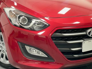 2016 Hyundai i30 GD4 Series II MY17 Active Fiery Red 6 Speed Manual Hatchback.