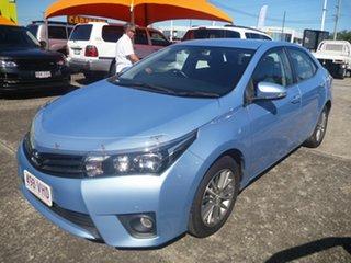 2014 Toyota Corolla ZRE172R SX Blue 6 Speed Manual Sedan.