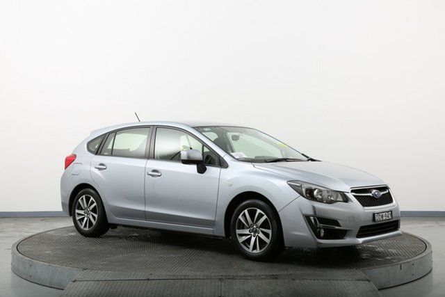 Used Subaru Impreza G4 MY16 2.0i Lineartronic AWD Premium Homebush, 2016 Subaru Impreza G4 MY16 2.0i Lineartronic AWD Premium Silver 6 Speed Constant Variable Hatchback