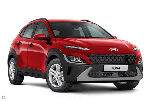New Hyundai Kona Os.v4 MY21 2WD Oakleigh, 2021 Hyundai Kona Os.v4 MY21 2WD Red 8 Speed Constant Variable Wagon