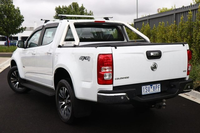 Used Holden Colorado RG MY18 LTZ Pickup Crew Cab Essendon Fields, 2018 Holden Colorado RG MY18 LTZ Pickup Crew Cab White 6 Speed Sports Automatic Utility
