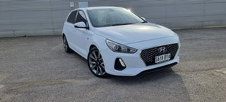 2018 Hyundai i30 PD2 MY18 SR D-CT White 7 Speed Sports Automatic Dual Clutch Hatchback.