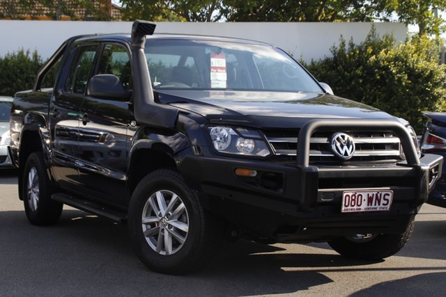Used Volkswagen Amarok 2H MY15 TDI420 4MOTION Perm Core Mount Gravatt, 2015 Volkswagen Amarok 2H MY15 TDI420 4MOTION Perm Core Black 8 Speed Automatic Cab Chassis