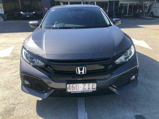 2019 Honda Civic 10th Gen MY19 VTi-L Grey 1 Speed Constant Variable Hatchback.