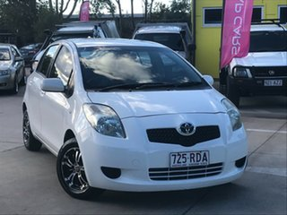 2006 Toyota Yaris NCP90R YR White 4 Speed Automatic Hatchback.