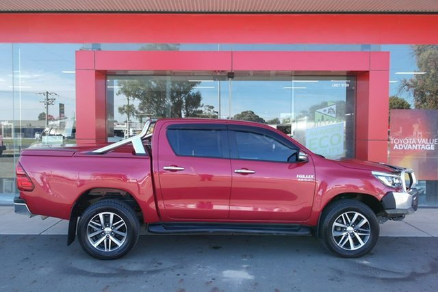Used Toyota Hilux GUN126R SR5 Double Cab Swan Hill, 2016 Toyota Hilux GUN126R SR5 Double Cab Red 6 Speed Sports Automatic Utility