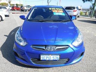 2014 Hyundai Accent RB2 Active Blue 6 Speed Manual Sedan.
