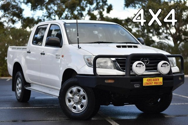 Used Toyota Hilux KUN26R MY12 SR Double Cab Morphett Vale, 2013 Toyota Hilux KUN26R MY12 SR Double Cab White 4 Speed Automatic Utility