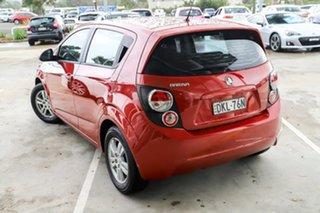 2012 Holden Barina TM Red 5 Speed Manual Hatchback.