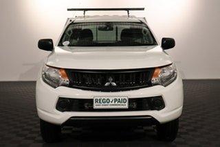 2016 Mitsubishi Triton MQ MY17 GLX 4x2 White 5 speed Automatic Cab Chassis.