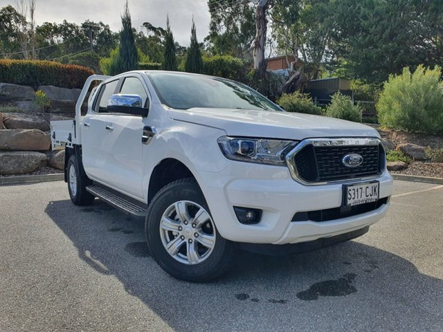 Demo Ford Ranger XLT Double Cab Totness, 2020 Ford Ranger PX MKIII 2021.2 XLT Double Cab Arctic White 6 Speed SMD Double Cab Chassis