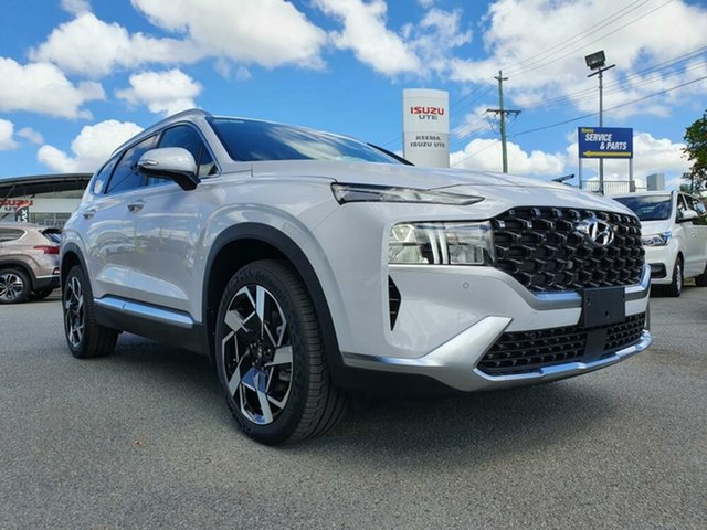 New Hyundai Santa Fe Tm.v3 MY21 Elite DCT Augustine Heights, 2021 Hyundai Santa Fe Tm.v3 MY21 Elite DCT Glacier White 8 Speed Sports Automatic Dual Clutch Wagon