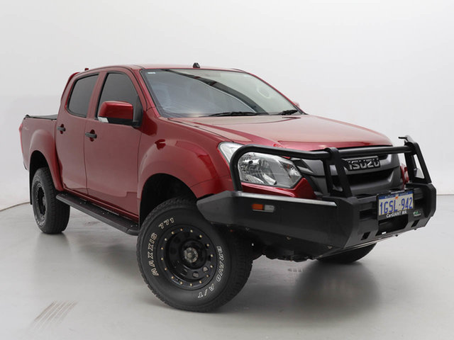 Used Isuzu D-MAX TF MY18 SX (4x4), 2018 Isuzu D-MAX TF MY18 SX (4x4) Red 6 Speed Automatic Crew Cab Chassis