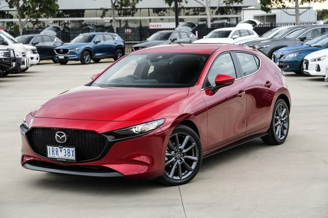 Demo Mazda 3 BP2H7A G20 SKYACTIV-Drive Evolve Narre Warren, 2020 Mazda 3 BP2H7A G20 SKYACTIV-Drive Evolve Red 6 Speed Sports Automatic Hatchback