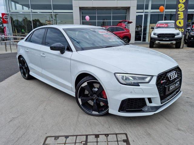 Used Audi RS 3 8V MY18 S Tronic Quattro Liverpool, 2017 Audi RS 3 8V MY18 S Tronic Quattro Glacier White 7 Speed Sports Automatic Dual Clutch Sedan