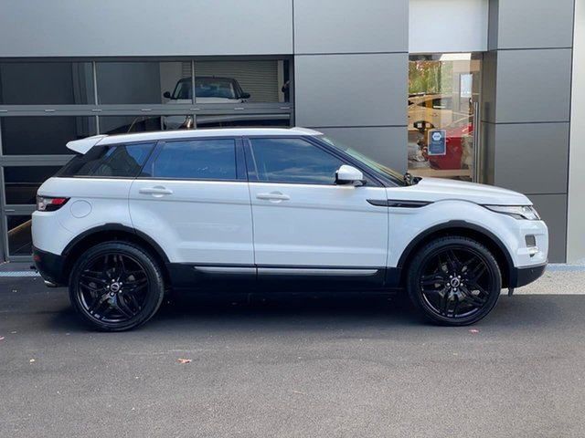 Used Land Rover Range Rover Evoque L538 MY15 Pure Hobart, 2014 Land Rover Range Rover Evoque L538 MY15 Pure White 9 Speed Sports Automatic Wagon