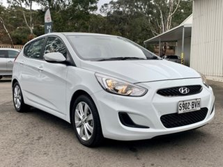 2018 Hyundai Accent RB6 MY18 Sport White 6 Speed Manual Hatchback.